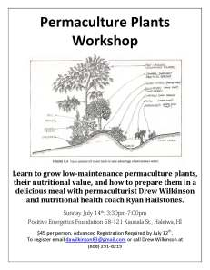 Permaculture Plants Workshop Flyer