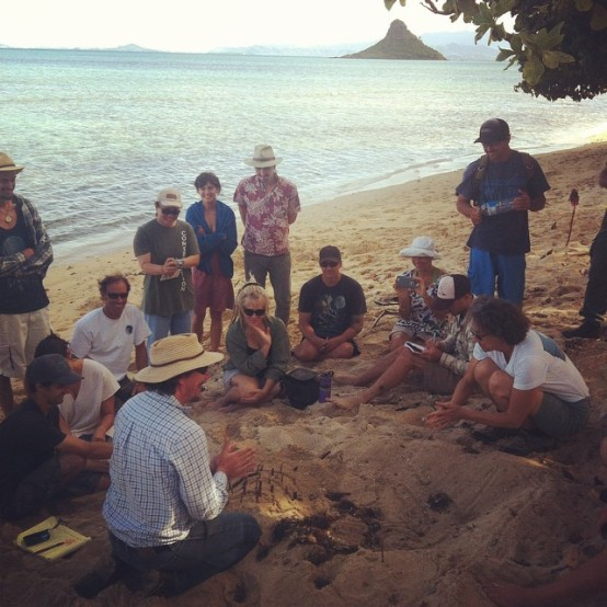 Keyline farming on the beach w/ Darren Doherty #RegrariansHI #RegenerativeAgriculture