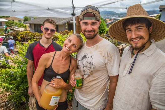 Surfrider Oahu and Permablitz Hawaii continue a partnership to promote Ocean Friendly Gardens, Food Security, and environmental empowerment thorugh an engaged and smiling volunteer base.